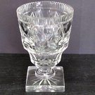 Old Cut Glass  vase Antique Crystal square base