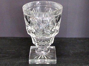 Old Cut Glass  vase Antique Crystal square base
