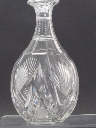 American Brilliant Period Cut Glass water bottle Wheel polished  Antique