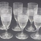 Vintage Cut Glass stems crosscut and facet 6 piece set