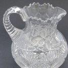 American Brilliant Period Cut Glass Pitcher  Antique