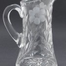 Cut glass  pitcher ANTIQUE HAND CUT crystal floral