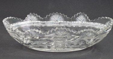 American Brilliant Period Cut Glass oblong bowl ABP antique
