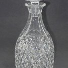 Hand Cut glass  decanter  crosscut with mushroom stopper