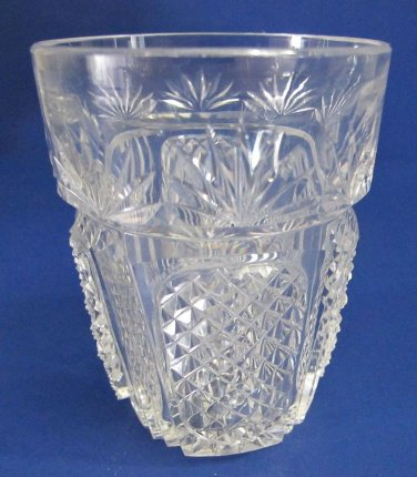 OLD IRISH tumblers American Brilliant Period hand Cut Glass blown whiskey for