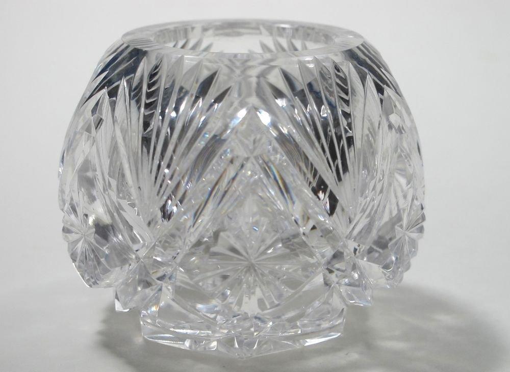 ABP cut glass mini voilet vase,   Antique crystal