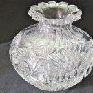 American Brilliant Period flower center Cut Glass blown  ABP  Antique