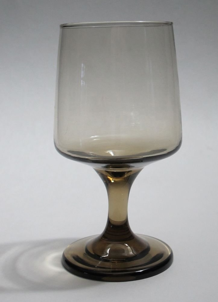 Brown water goblet stem glass