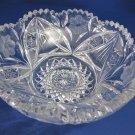 American Brilliant Period hand Cut Glass Antique  bowl ABP, Wedding gift