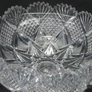 "American Brilliant Period Hawkes Cut Glass mouth blown 10"" bowl ABP  Antique"