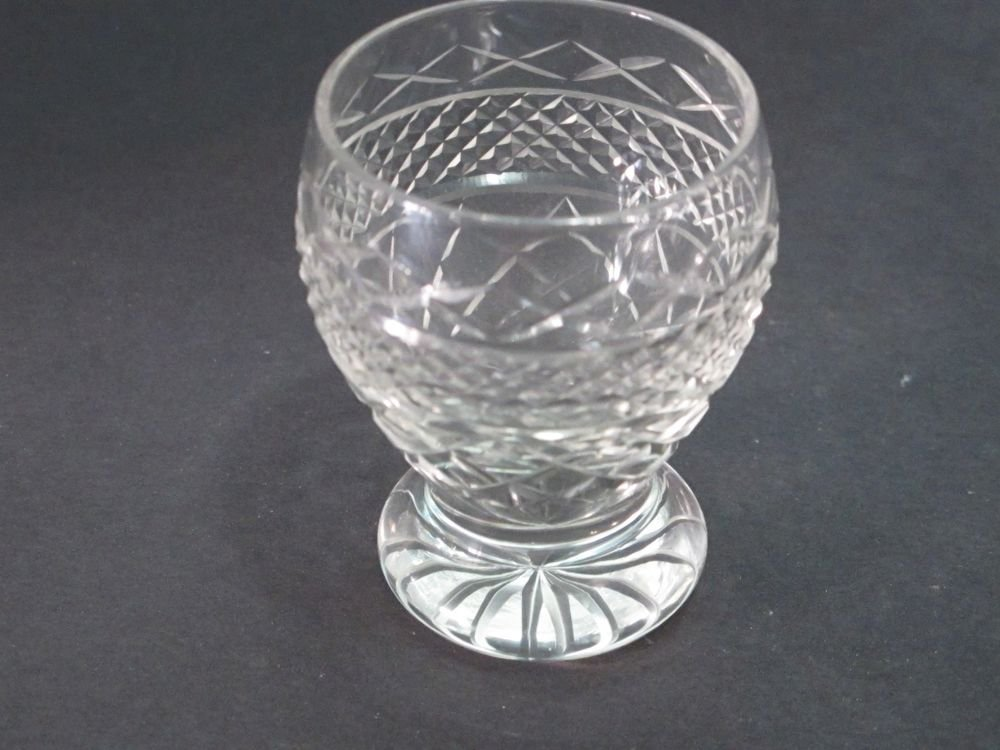 Hand Cut glass shot glass