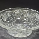 Hand cut glass bowl 12""