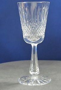 Signed Galway crystal Claddagh wine glass Crystal older Hand cut