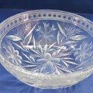 American Brilliant Period Cut Glass bowl  ABP  Antique Floral WHEEL CUT N