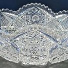 American Brilliant Period Cut Glass oval bowl  ABP  Antique