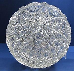 American Brilliant Period Cut Glass  ABP  Antique  expanding star bowl