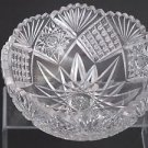 "American Brilliant Period hand Cut Glass mouth blown wheel polished 8"" bowl ABP"