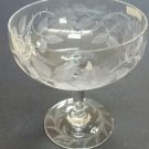 Wheel engraved compote floral