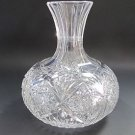 American Brilliant Period Cut Glass water  carafe / vase  Antique Water bottle N