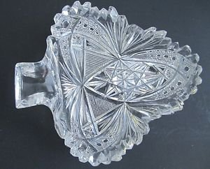American Brilliant Period Cut Glass spade shape ABP antique