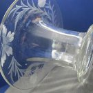 Wheel cut glass rolled out vase Butterfly