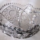 "American Brilliant Period hand Cut Glass Antique 8"" bowl ABP"