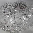 American Brilliant Period hand Cut Glass bowl ABP antique crystal