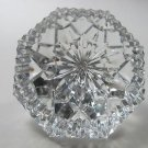 Signed Waterford crystal diamond paperweight glass