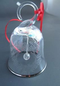 Lenox Crystal 1984 candle  miniature bell ornament Hand blown Made in USA