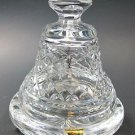 Signed Waterford crystal Peace bell with under dish