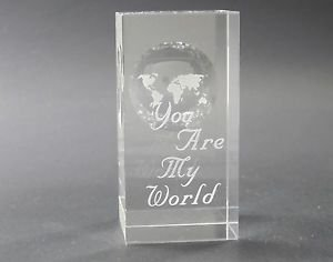 Globe pattern paperweight, You are my World, Great Valentine gift