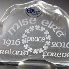 Easter Rising1916 2016 glass sculpture / paperweight I'm Ireland peace mise eire