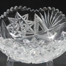 American Brilliant Period hand Cut Glass Antique bowl ABP  blown blank