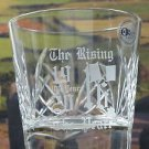 Easter Rising 1916-2016 Hand Cut double on the rocks Glass hand polished Ireland