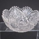 American Brilliant Period hand Cut Glass Antique 7 bowl ABP Wedding gift hobstar