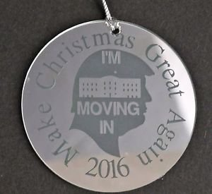 Trump 2016 make Christmas great again ornament USA mirror decoration
