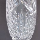 Waterford CUT GLASS signed vase footed old cut in Ireland, Wedding gift crystal