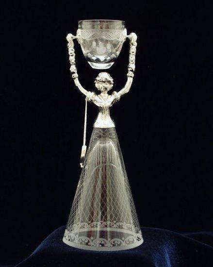Elegant Crystal and Pewter German Bridal Wedding Cup