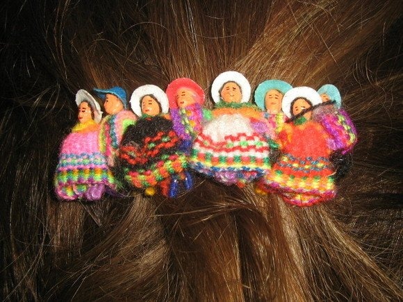Girls Puppet Doll Hair Grip Alice Band Typical Peru