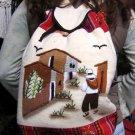 Backpack,Rucksack, Alpacawool,ethnic painted motive