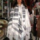 Poncho, Coat pure Alpaca Wool, peruvian Outerwear
