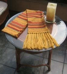Yellow shawl,Alpaca wool, the scarf is 62 Inches long