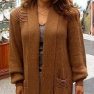Long brown cardigan,jacket made of Babyalpaca wool