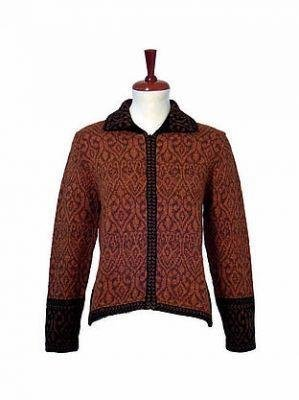 Embroidered Jacket, Blazer made with Alpaca wool