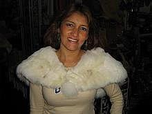 Alpaca Pelt Stola, Cape made with soft fur, shawl