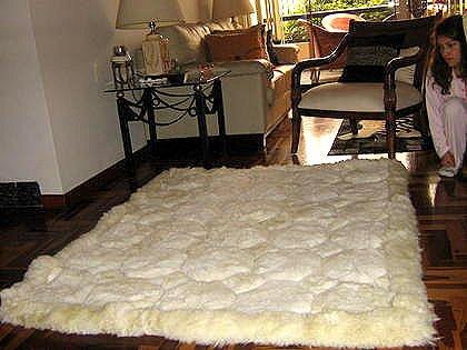 Alpaca pelt rug,white carpet,190x140 cm,74x55 Inches