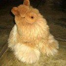 Soft toy Lama,handmade figure with Alpaca pelt