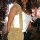 Pelt handbag, Bag made with merino sheep Pelt