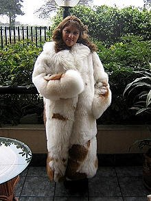 Babyalpaca pelt long coat, fur outerwear, in all sizes
