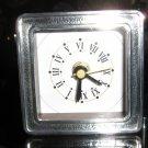 Alarm clock,Mahogany ,with 950 silver decor,electric